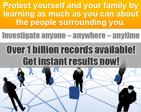 Perform an instant online background check on someone ... even yourself. Fast - easy - accurate.